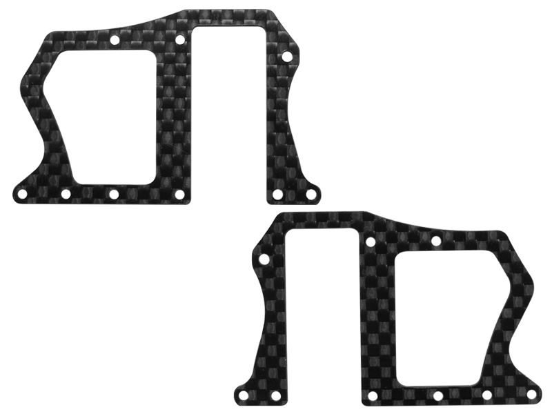 Rakonheli CNC 3K Pure Carbon Fiber Upper Side Frame (2) (for 200S452)