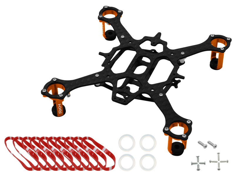 Rakonheli CNC 90mm Quadcopter Kit (8mm Motor) - RKH 90RQX