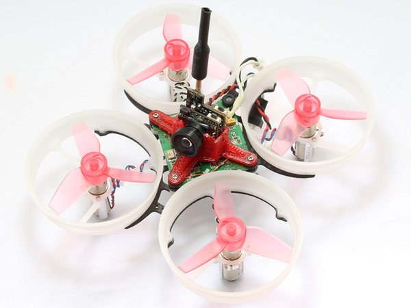 Rakonheli CNC Delrin and Carbon 74mm Ducted Quad X Kit (7mm Motor) - Blade Inductrix/FPV, RKH 74DQX