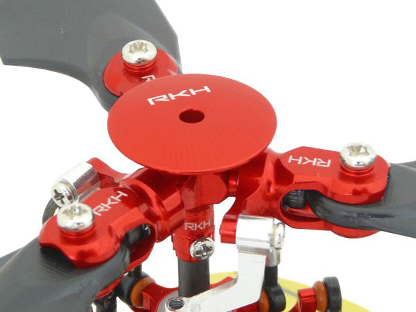 CNC 3 Blades Main Rotor Hub w/Head Stopper Set (Red) - Blade mCPXBL
