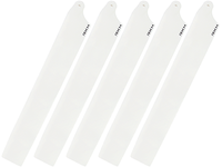 5 Plastic Main Rotor Blades 150mm (White)