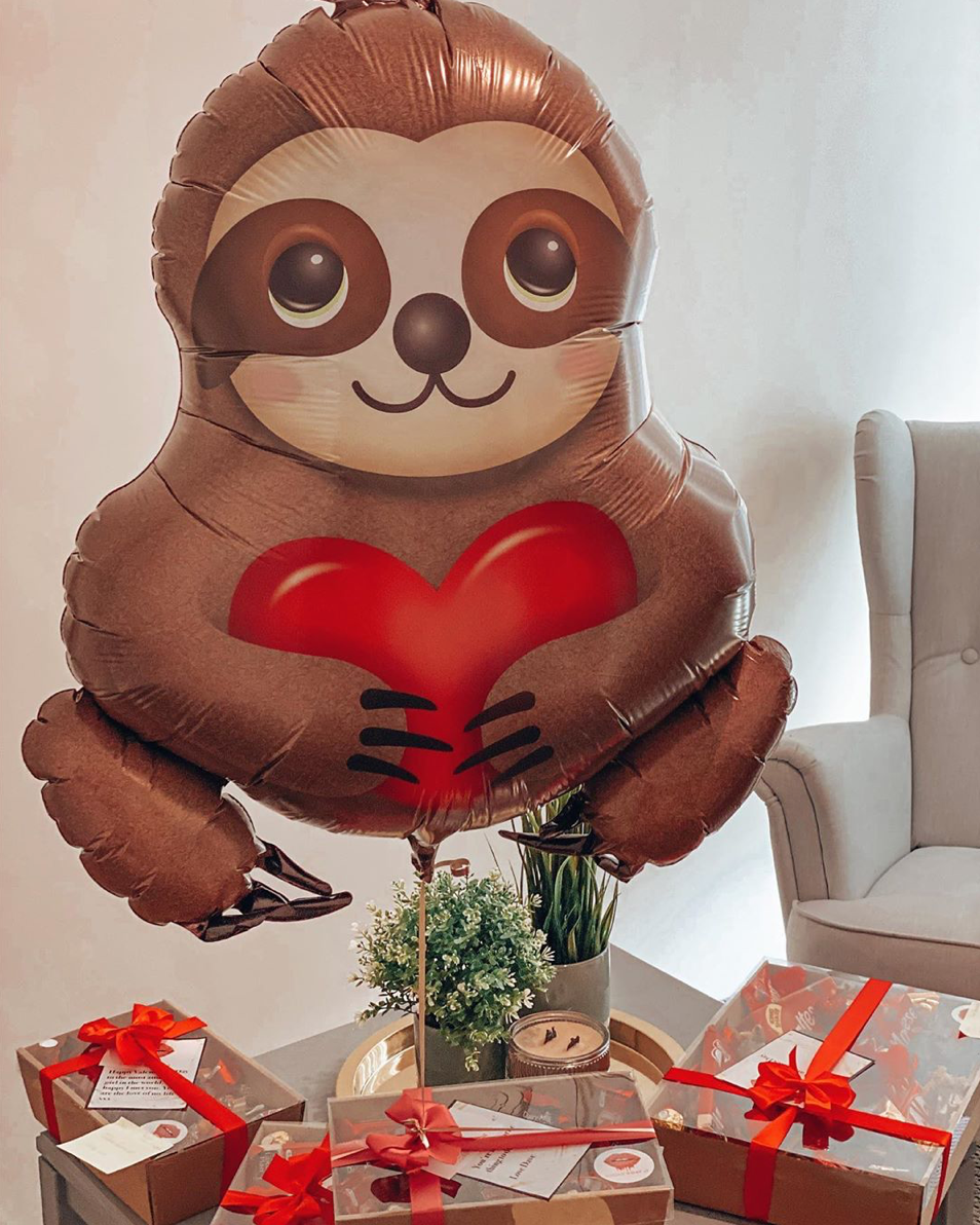 Load image into Gallery viewer, Sloth Balloon (It's Big) - Sugar Coat It - Perth Dessert Boxes