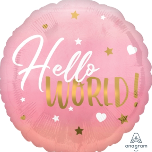 Load image into Gallery viewer, Hello World - Baby girl balloon - Sugar Coat It - Perth Dessert Boxes