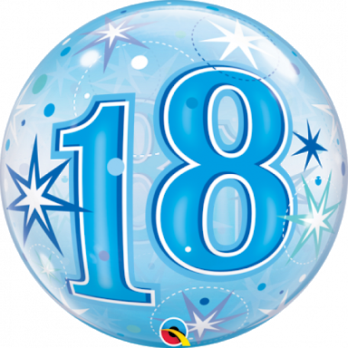 Load image into Gallery viewer, Blue 18th Bubble Birthday Balloon - Sugar Coat It - Perth Dessert Boxes