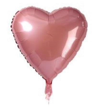 Pink love heart foil balloon - Sugar Coat It - Perth Dessert Boxes