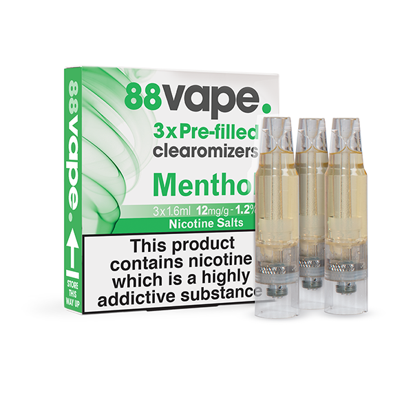 Menthol Pre-Filled Clearomizers (x3)