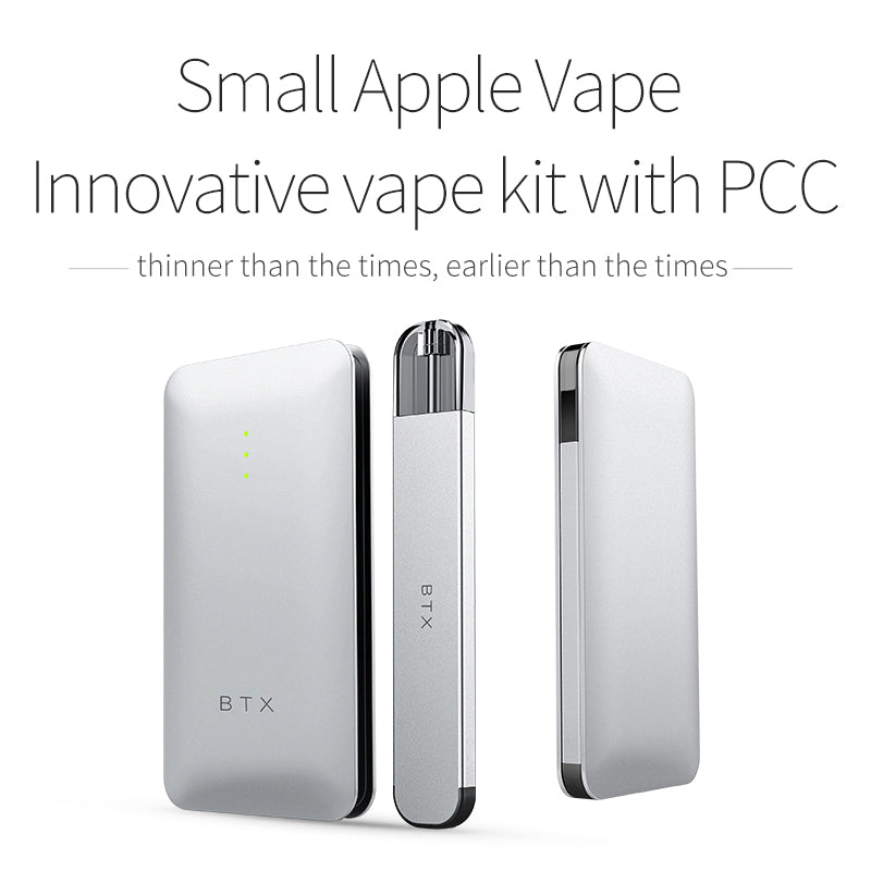 BTX Apple Vape Pod System 720mAh+220mAh 1.0ml Magnetic Connection Small Apple Vape Innovative vape kit with PCC