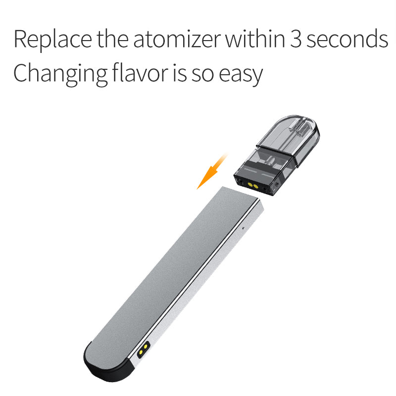 BTX Apple Vape Pod System 720mAh+220mAh 1.0ml Magnetic Connection 3 Seconds Flavor Changing