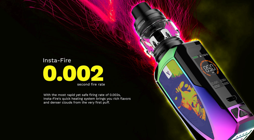 Vaporesso Tarot Baby 85W TC Kit with NRG SE Fire Rate