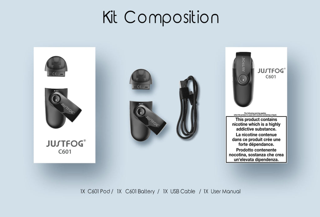 Justfog C601 Starter Kit Composition