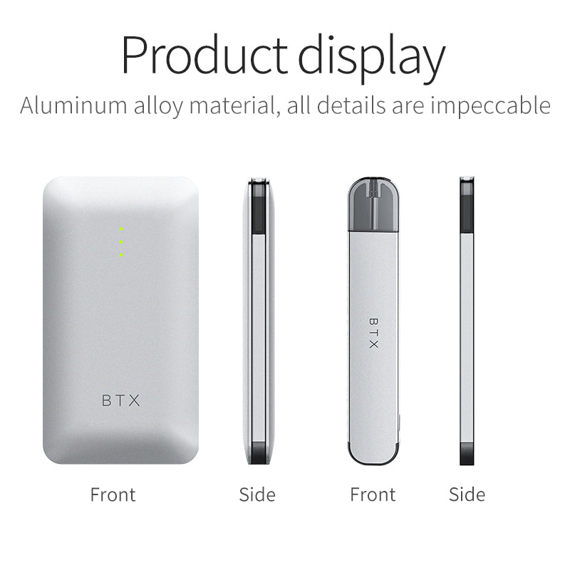BTX Apple Vape Pod System 720mAh+220mAh 1.0ml Magnetic Connection Display