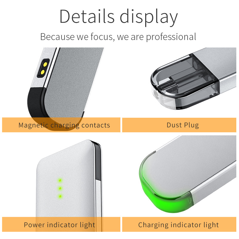 BTX Apple Vape Pod System 720mAh+220mAh 1.0ml Magnetic Connection Details