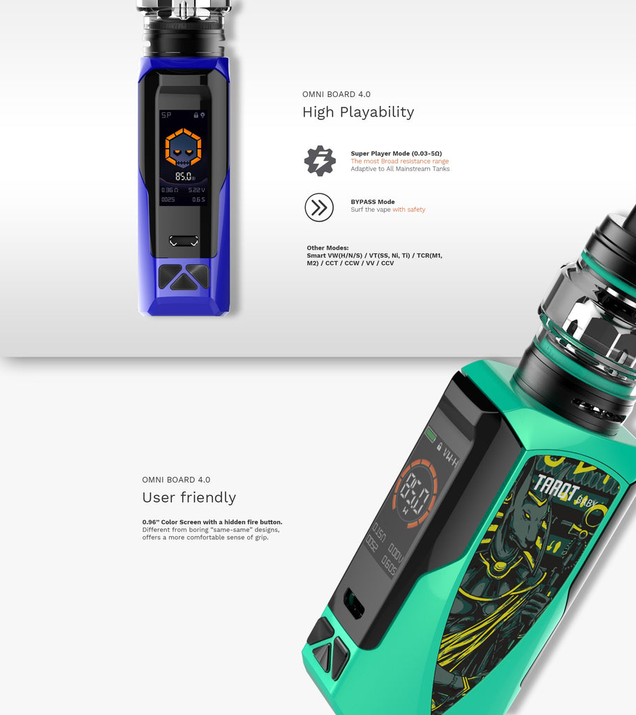 Vaporesso Tarot Baby 85W TC Kit with NRG SE High Playability & User Frifendly