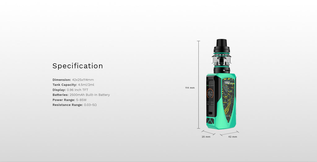 Vaporesso Tarot Baby 85W TC Kit with NRG SE Specification