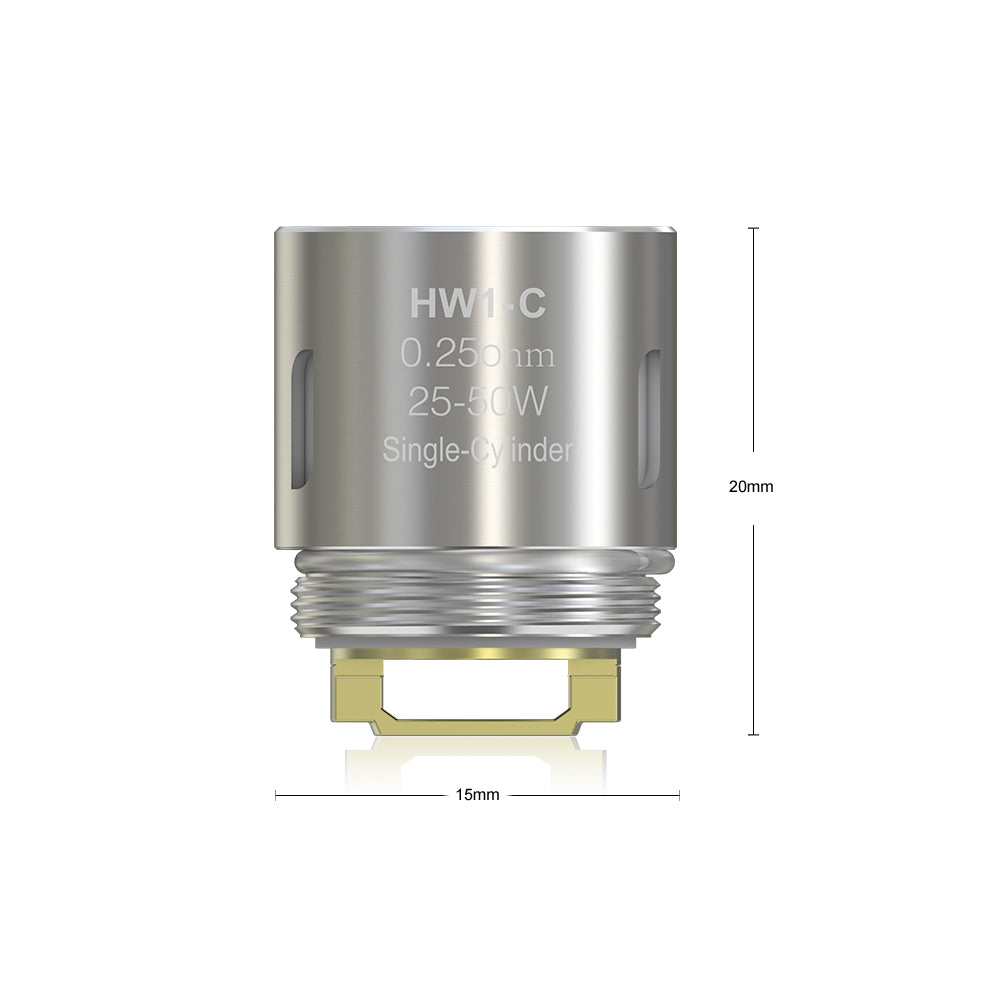 HW1-C Single-Cylinder 0.25ohm Head Size