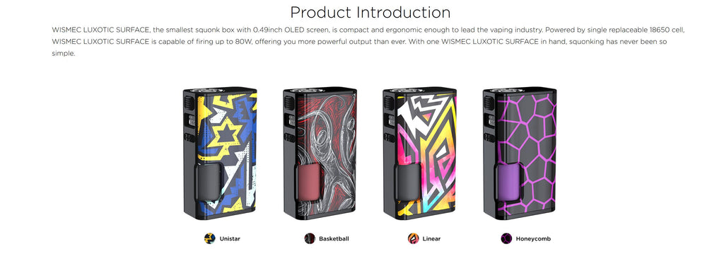 Wismec Luxotic Surface 80W Squonk Mod Introduction