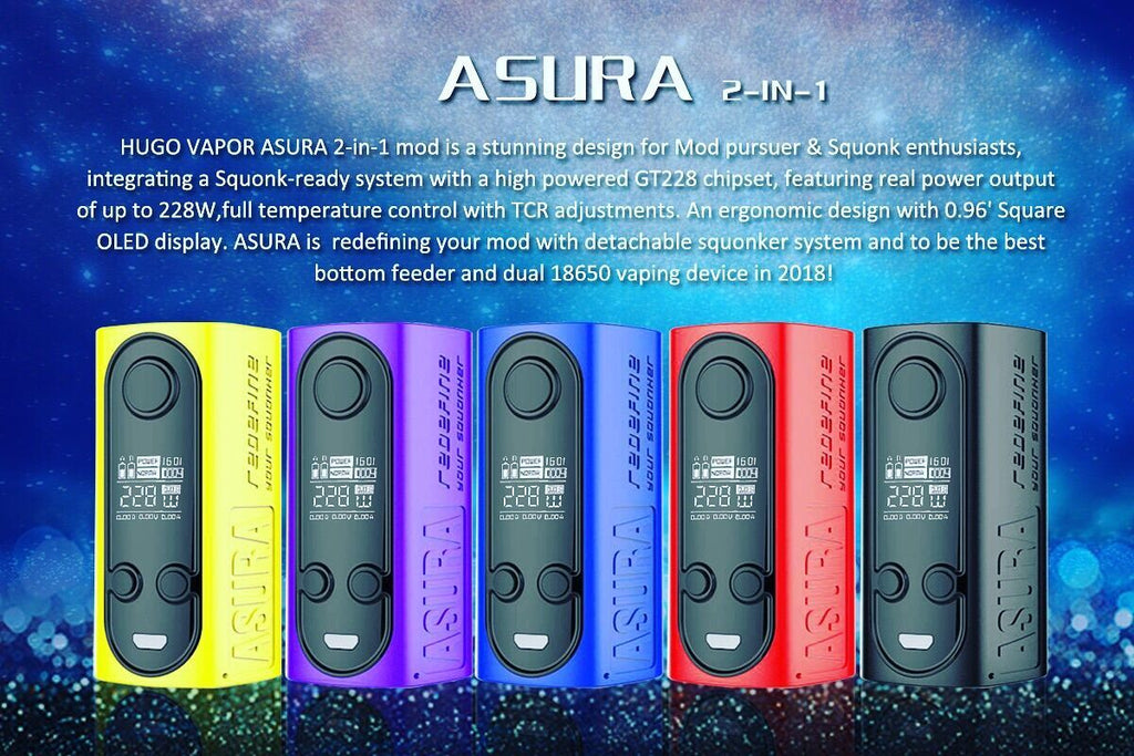 HUGO VAPOR ASURA 2-in-1 228W MOD 5 Colors Available