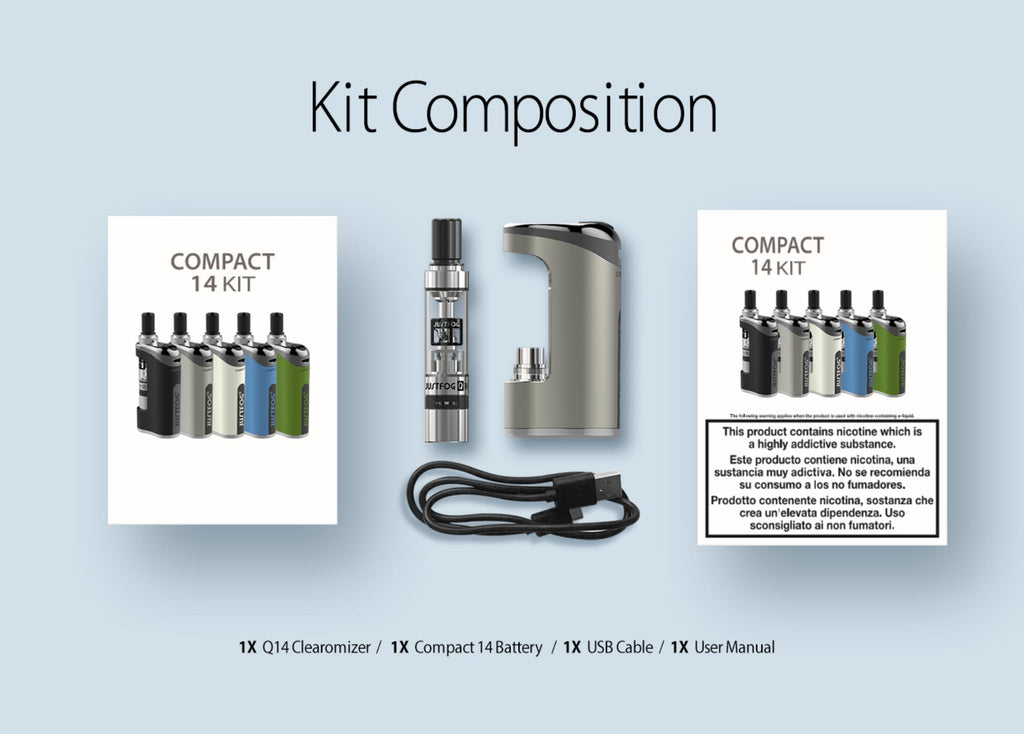 Justfog Compact 14 Starter Kit Composition