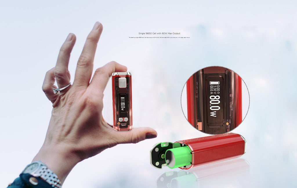 WISMEC SINUOUS V80 80W TC Kit Single 18650 Cell With 80W Max Output