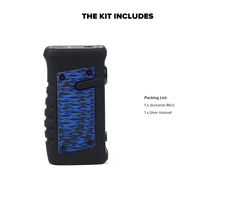 Vandy Vape Jackaroo TC Box Mod Kit Includes