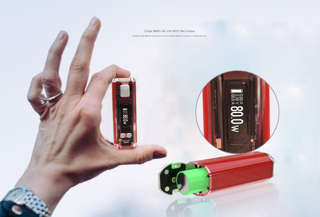 WISMEC SINUOUS V80 TC Box Mod Single 18650 Cell With 80W Max output