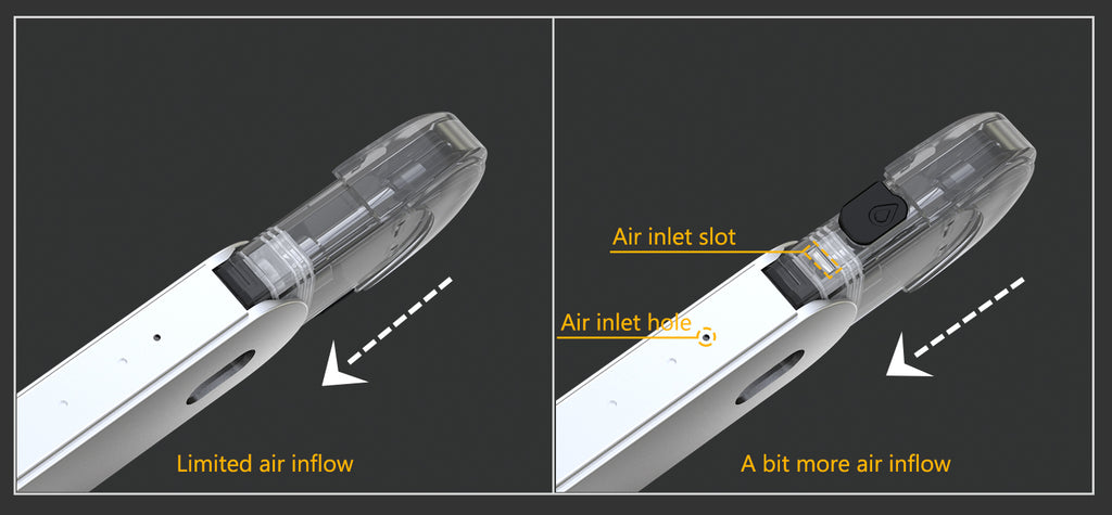 Eleaf Elven Pod Starter Kit Airflow Design