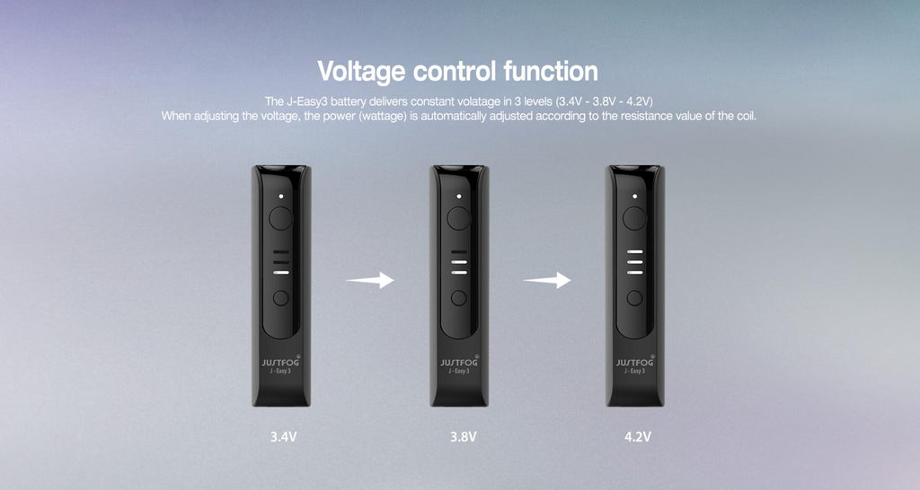 Justfog P16A Starter Kit Voltage Control Function