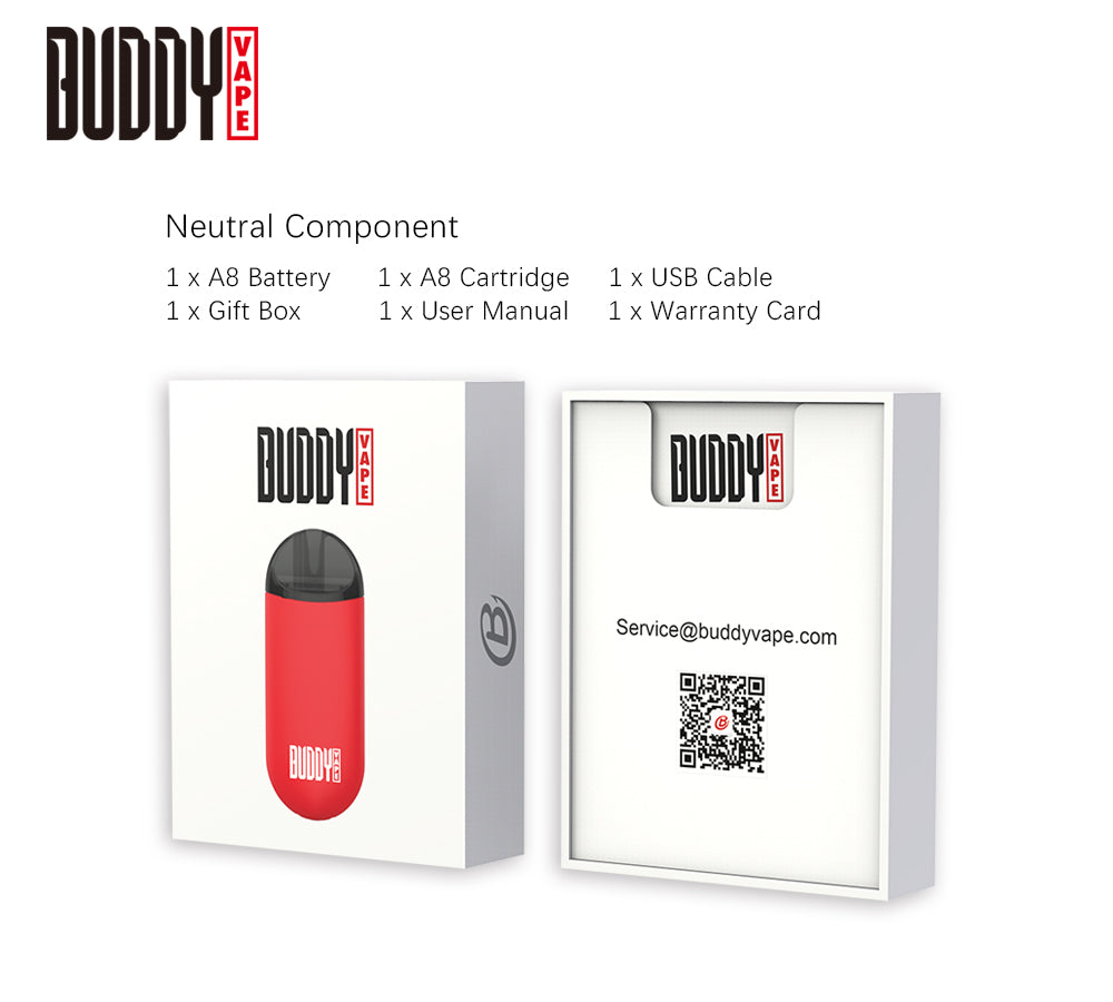 Buddy A8 Vape Pod System Package Content