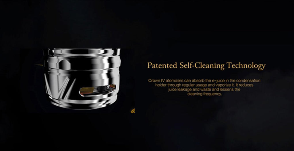Uwell Crown 4 IV Tank Patented Self-Cleaning Technology