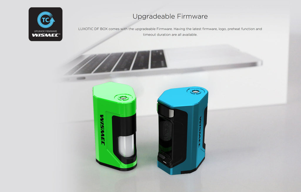 WISMEC Luxotic DF 200W TC Box Mod Upgradeable Firmware