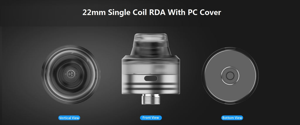 Advken Ayana Single Coil RDA With PC Cover