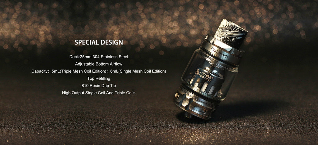 Advken Dark Mesh Tank 6ml 25mm Special Design