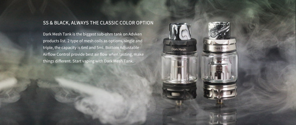 Advken Dark Mesh Tank 6ml 25mm Material & Colors Optional