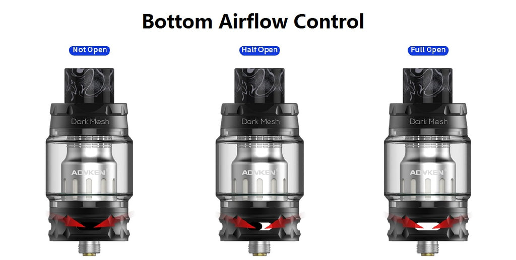 Advken Dark Mesh Tank 6ml 25mm Bottom Airflow Control