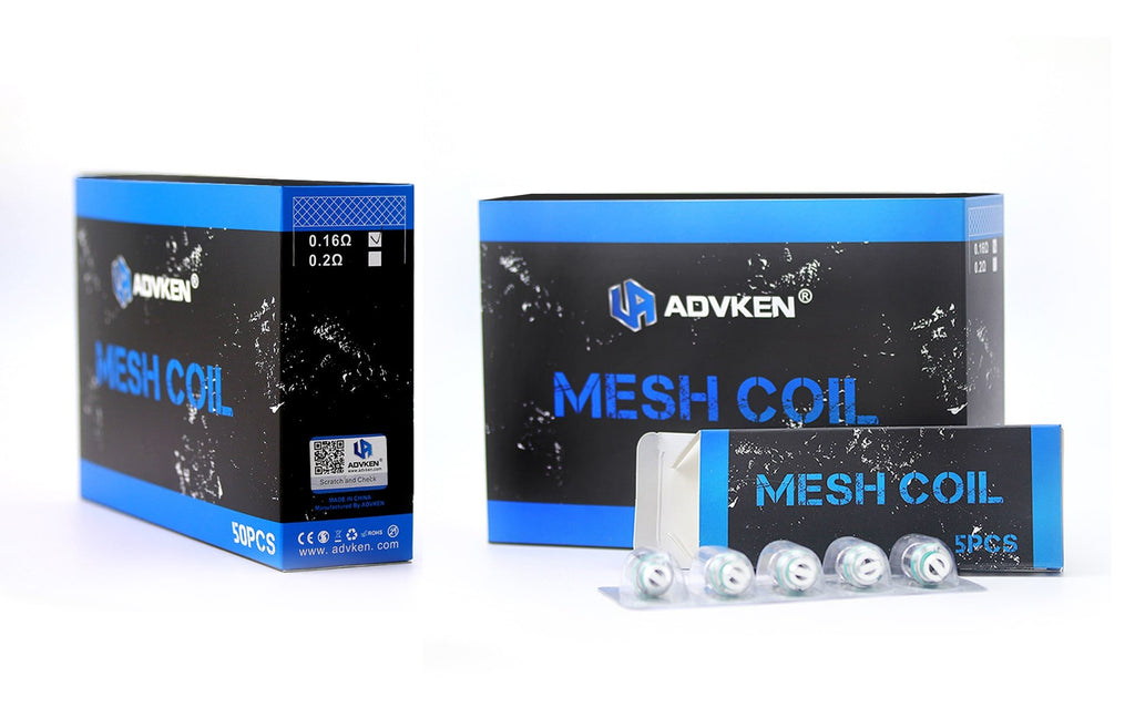 Advken Replacement 0.16ohm / 0.2ohm Mesh Coil Head 5PCs