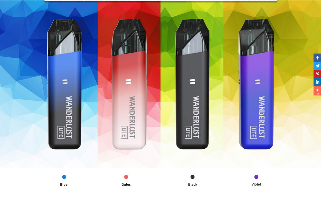 Advken Wanderlust Lite Vape Pod System Starter Kit 1000mAh 2ml 4 Colors Optional
