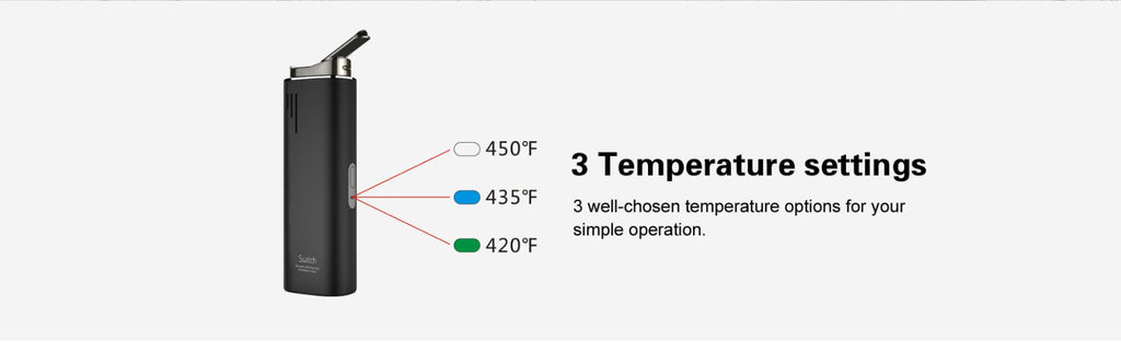Airistech Switch Vapor 3 temperature setting