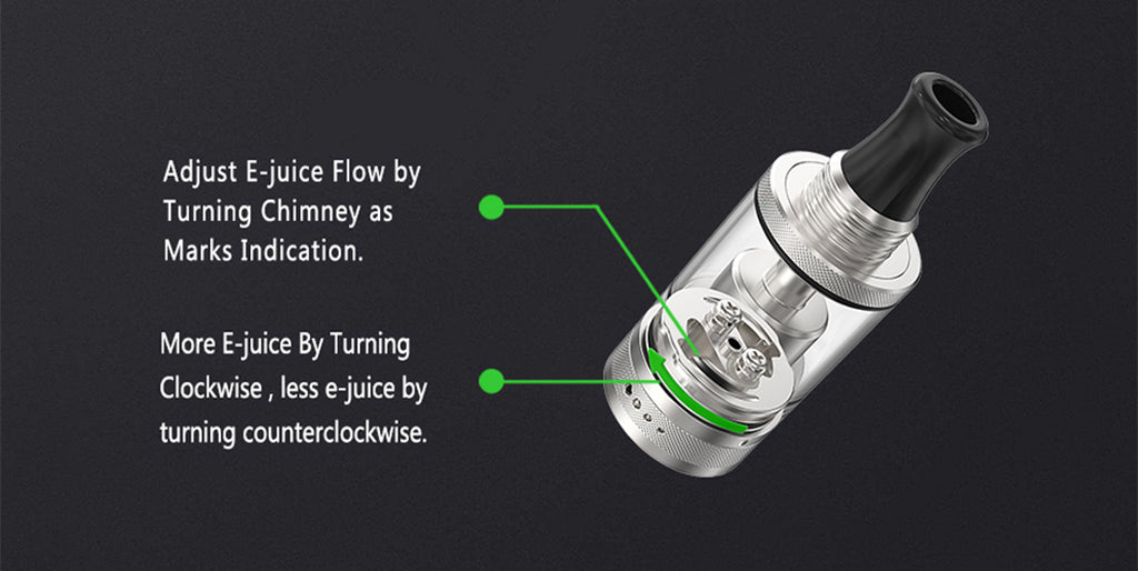 Ambition Mods Purity MTL RTA 2ml 18mm Adjust E-liquid Method
