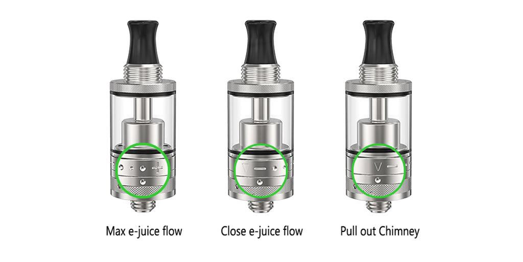 Ambition Mods Purity MTL RTA 2ml 18mm Adjusting The Marking Of e-liquids