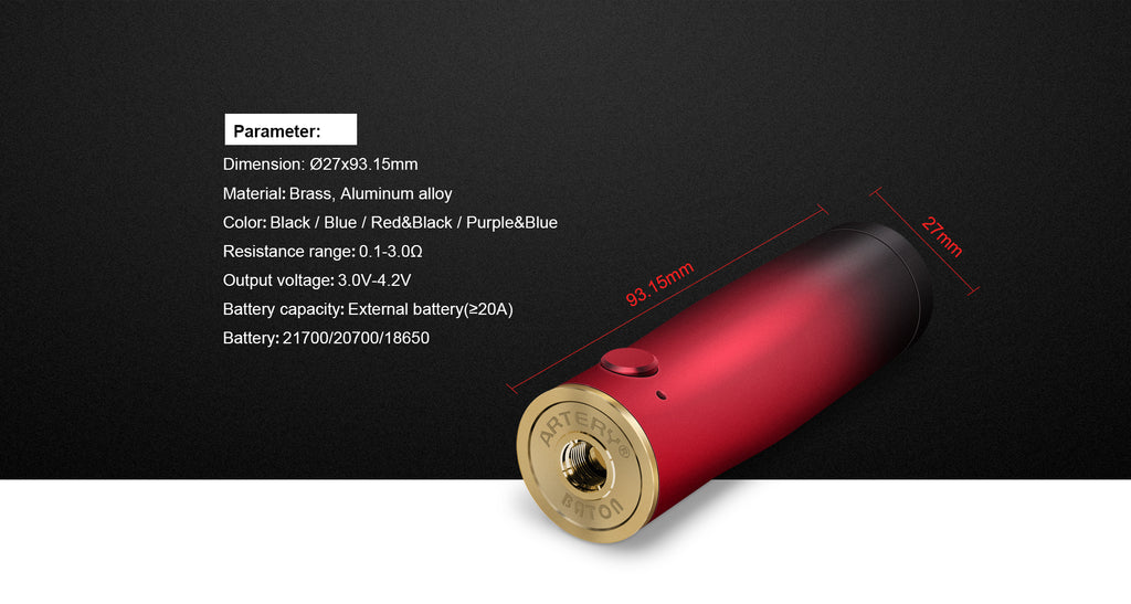 Artery Baton Semi-mechanical Mod Kit parameter