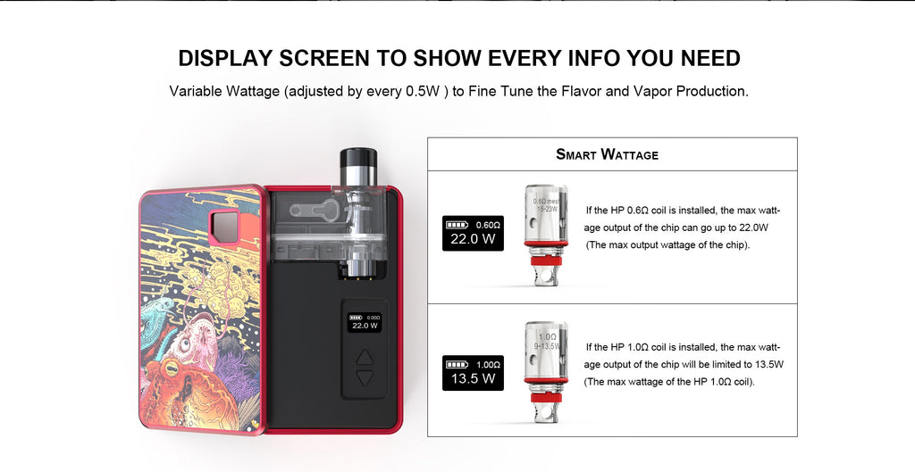 Artery PAL 2 Pro Vape Pod System Starter Kit Screen