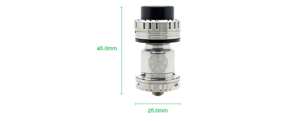 Asmodus Voluna V2 RTA 3.2ml Size