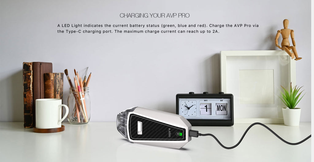 Aspire AVP Pro Pod System VW Starter Kit 1200mAh 4ml USB Charging