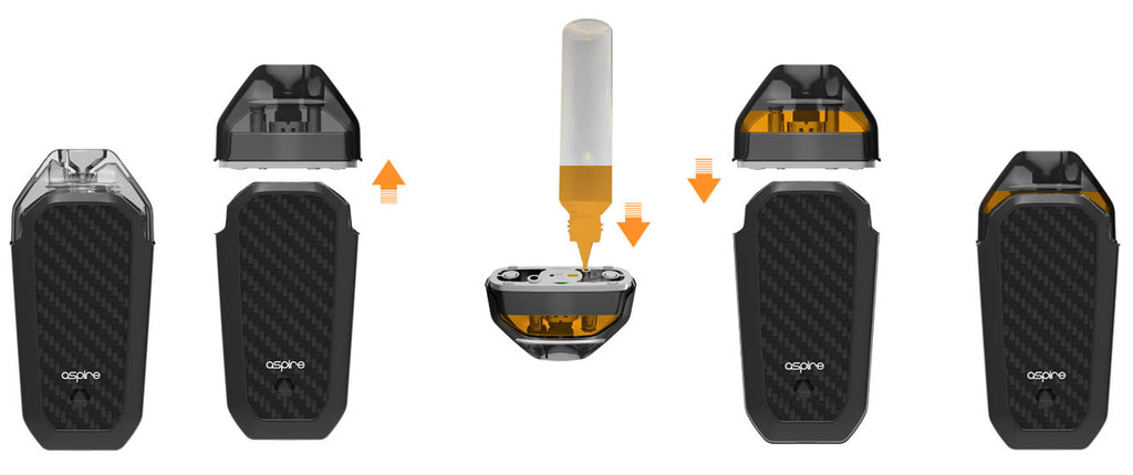 Aspire AVP Vape Pod System Chinese Version Filling Oil