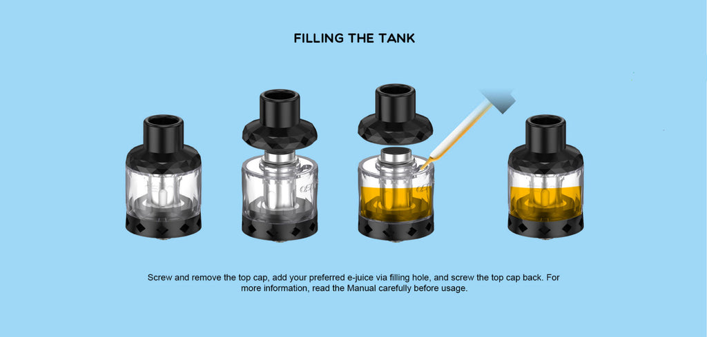 Aspire Cleito Shot Tank 4.3ml 27mm 3PCs Filling System