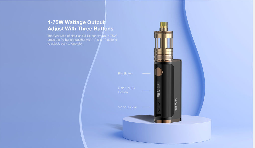 Aspire Nautilus GT VW Mod Kit Output & 3 Adjustable Buttons