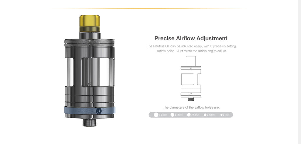 Aspire Nautilus GT 75W VW Mod Kit Airflow System