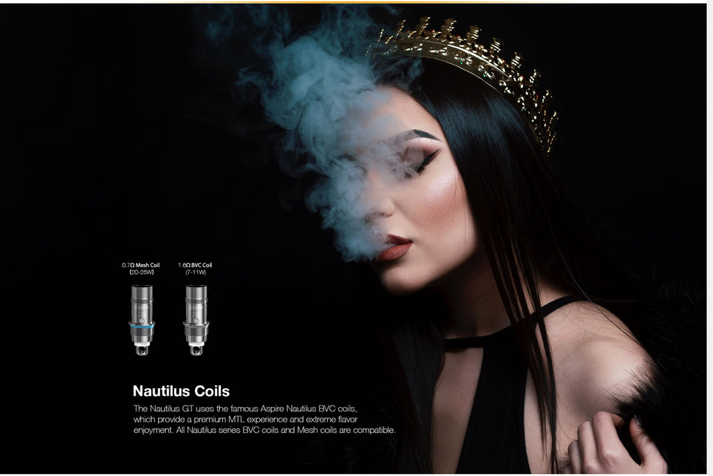 Aspire Nautilus GT 75W VW Mod Kit 2 Different Nautilus Coils