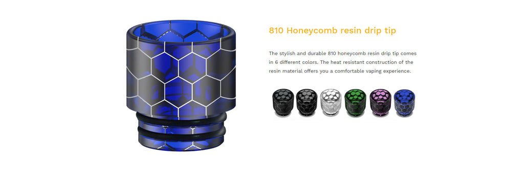 Aspire Odan Sub Ohm Tank 810 Honeycomb Resin Drip Tip