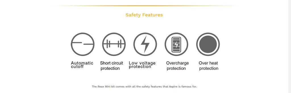 Aspire Reax Mini VW Mod Kit Safety Features